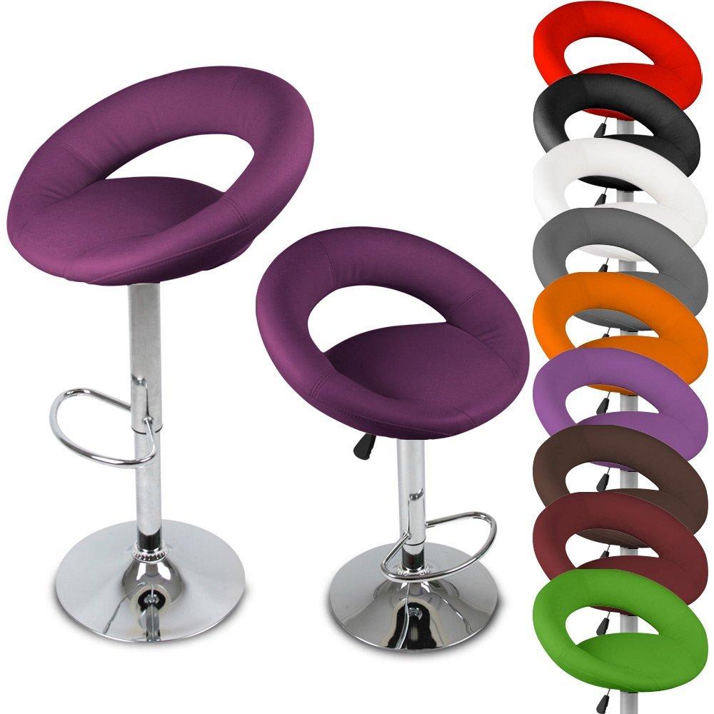 Miadomodo – Juego de 2 taburetes ergonómicos regulables en altura y giratorios – Verde elegir