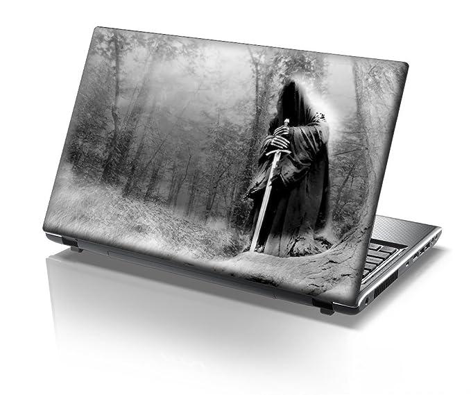 TaylorHe - Carcasa adhesiva de 38 x 25,5 cm para portátil con diseño de prisma y acabado con efecto piel