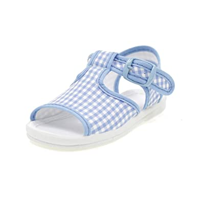 DIAMANTINO Canvas Sandals First Steps with Buckle Kids