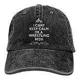 Sports Denim Cap I Cant Keep Calm Im A Wrestling Mom Women Spback Casquettes Adjustable Baseball Cap