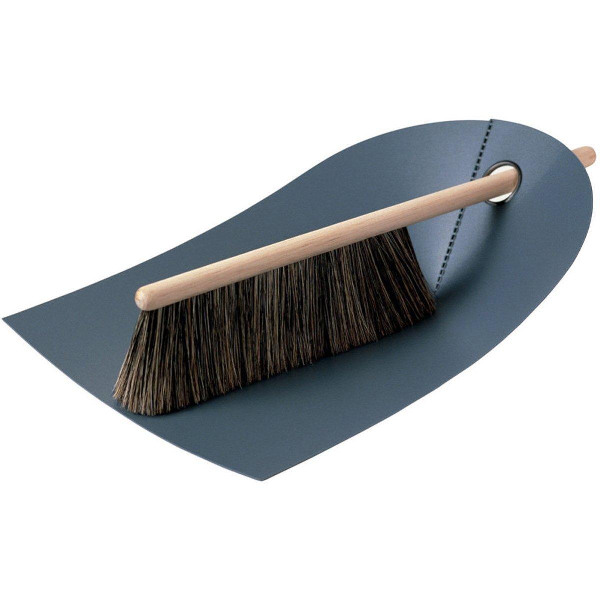 Normann Copenhagen Dustpan And Broom - Dark Grey