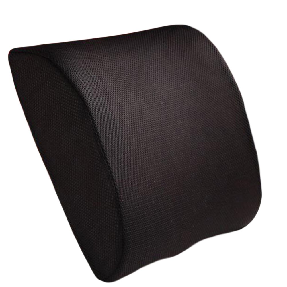 Zyurong Back Support Cushion Memory Foam Lumbar Pillow for Office Home Chair Car Seat Black 3107767