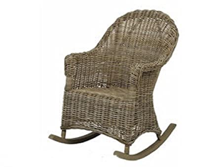 Natural Rattan Rocking Chair   Vintage Style