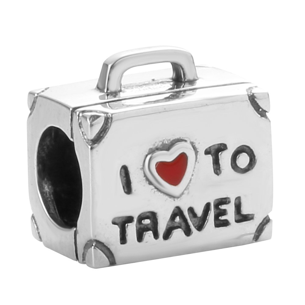 ABUN-I-Love-To-Travel-Charm-Solid-925-Sterling-Silver-Suitcase-Charm-with-Red-Enamel-Heart-for-Bracelet