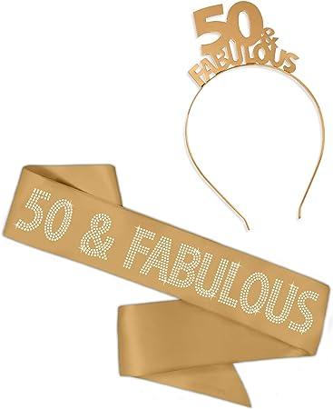 Amazon.com: 50 y fabuloso dorado metálico & Rhinestone faja ...