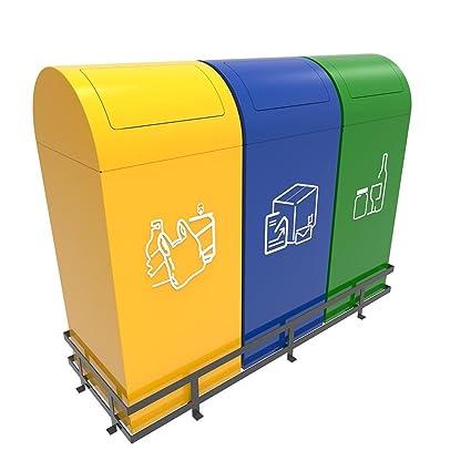 TRONDHEIM Contenedores de Basura para Reciclar con Tapas ...