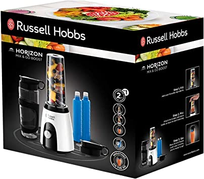 Russell Hobbs Horizon Mix & Go Boost - Batidora de Vaso Individual ...
