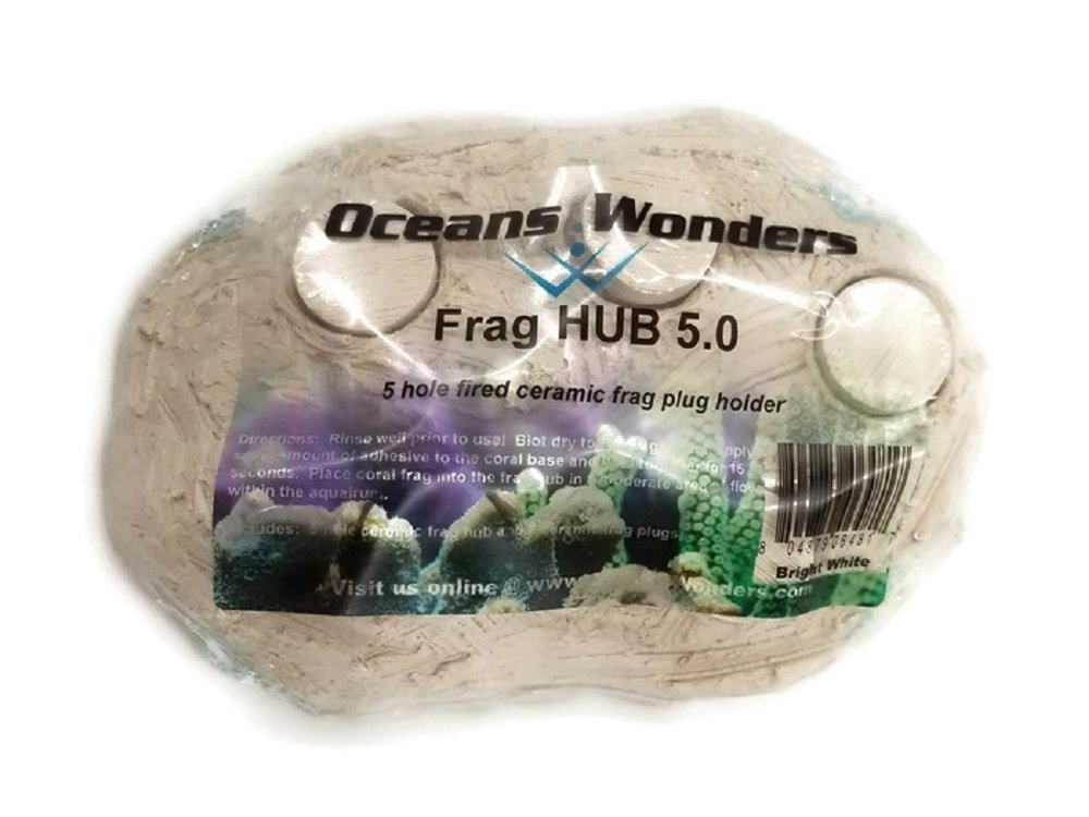 Oceans Wonders Flush Fit Frag Station Hub 5.0 Coral Reef Plug Holder with 5 Plugs by Oceans Wonders