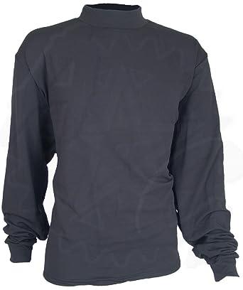 Black Thermal Underwear Shirt w/ Mock Turtleneck, 3XL, Made in USA ...