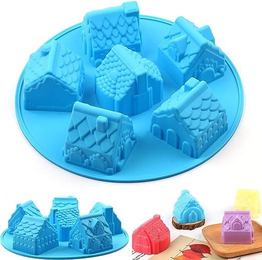 Molde de silicona para 6 cavidades de PONECA, forma de casa, para ...