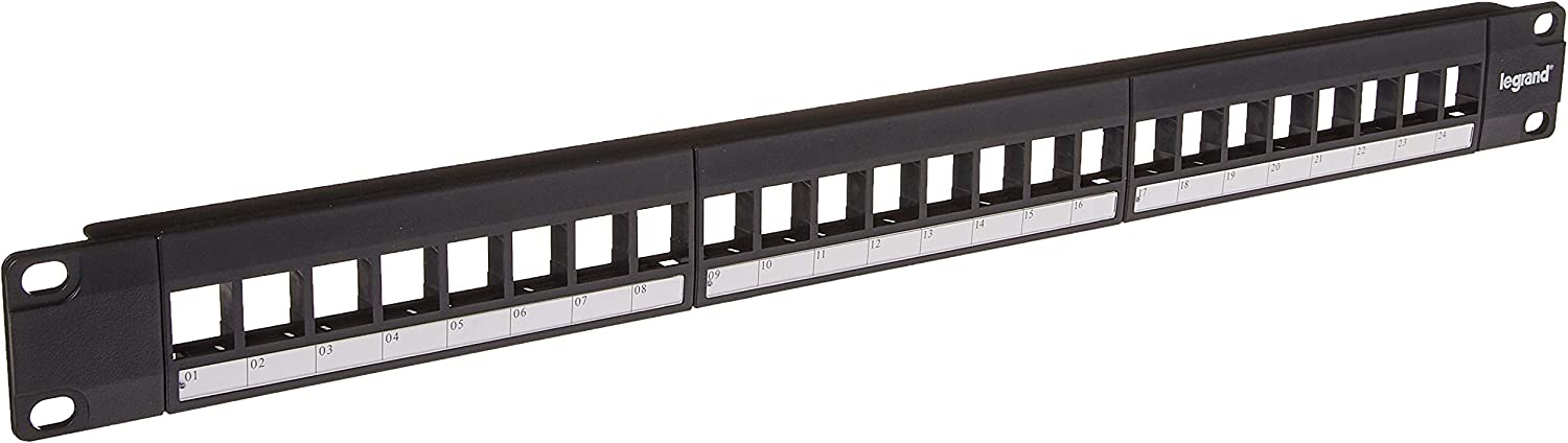 Legrand, Home Office & Theater, Patch Panel, Keystone Patch Panel, 24 Port, WP24RM