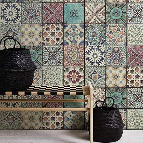 Moroccan Croatian Style Tile Effect Wallpaper Multicoloured Buy Online In Bulgaria At Bulgaria Desertcart Com Productid 90307129