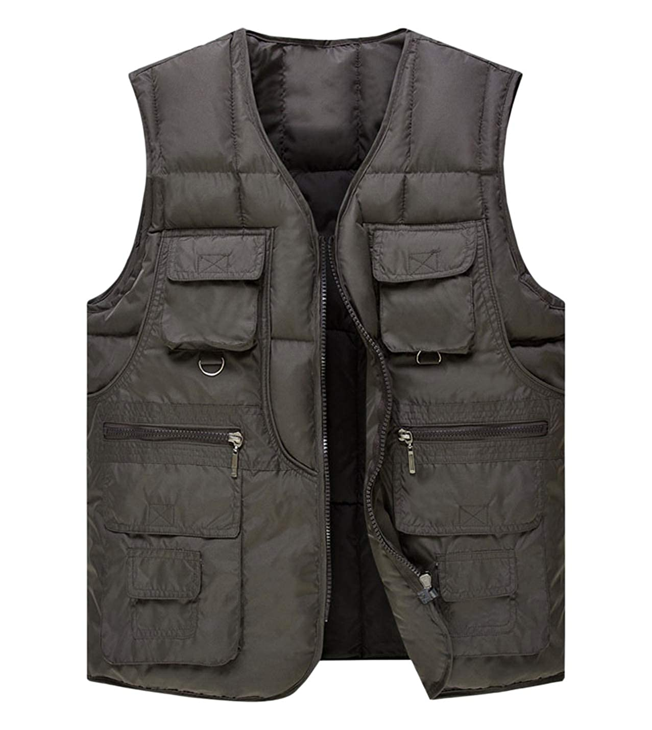 Gihuo Mens Lightweight Sleeveless Puffer Down Vest Quilted Jacket Coats