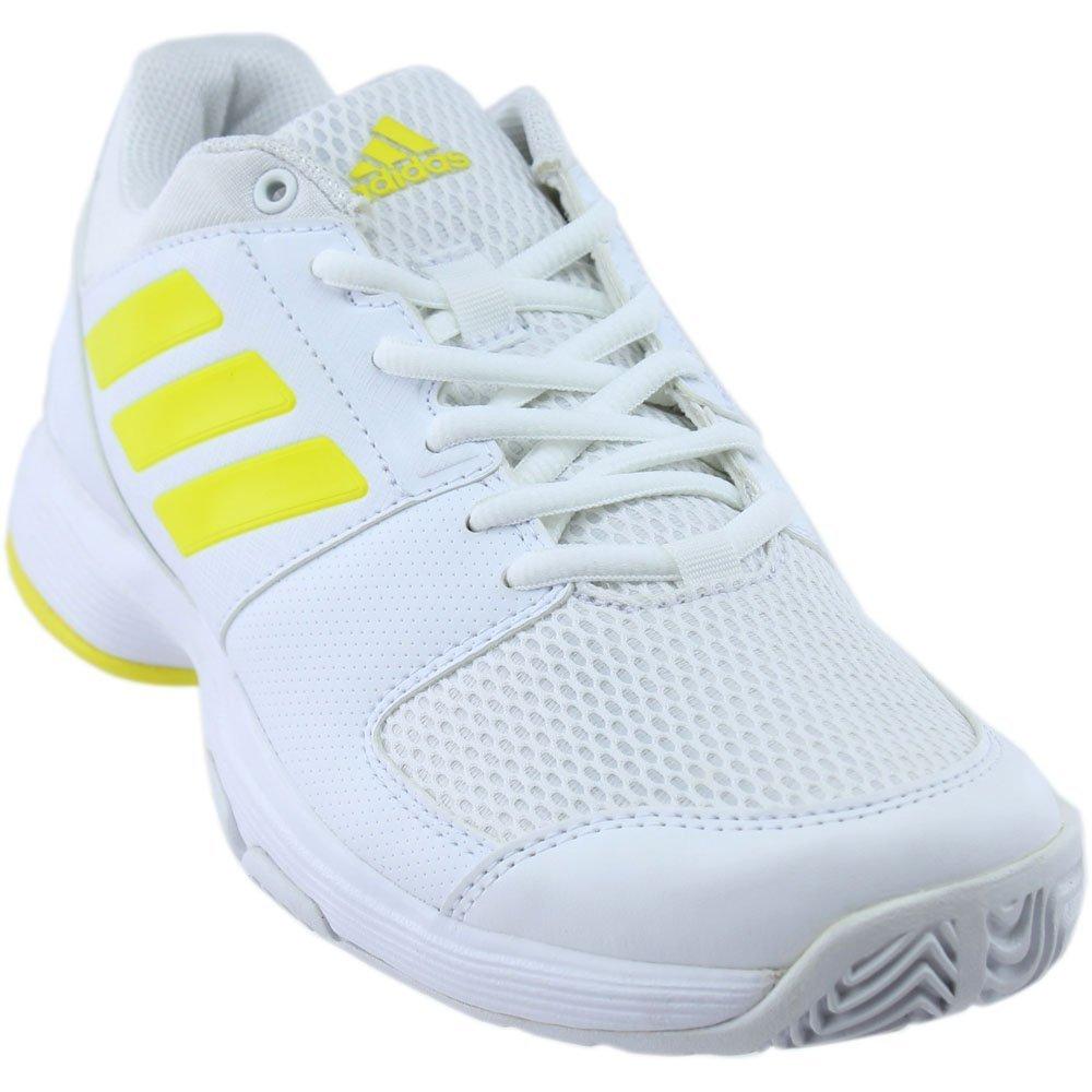 adidas Women's Shoes | Barricade Court Tennis, White/Lemon Peel/White, (9.5 M US)