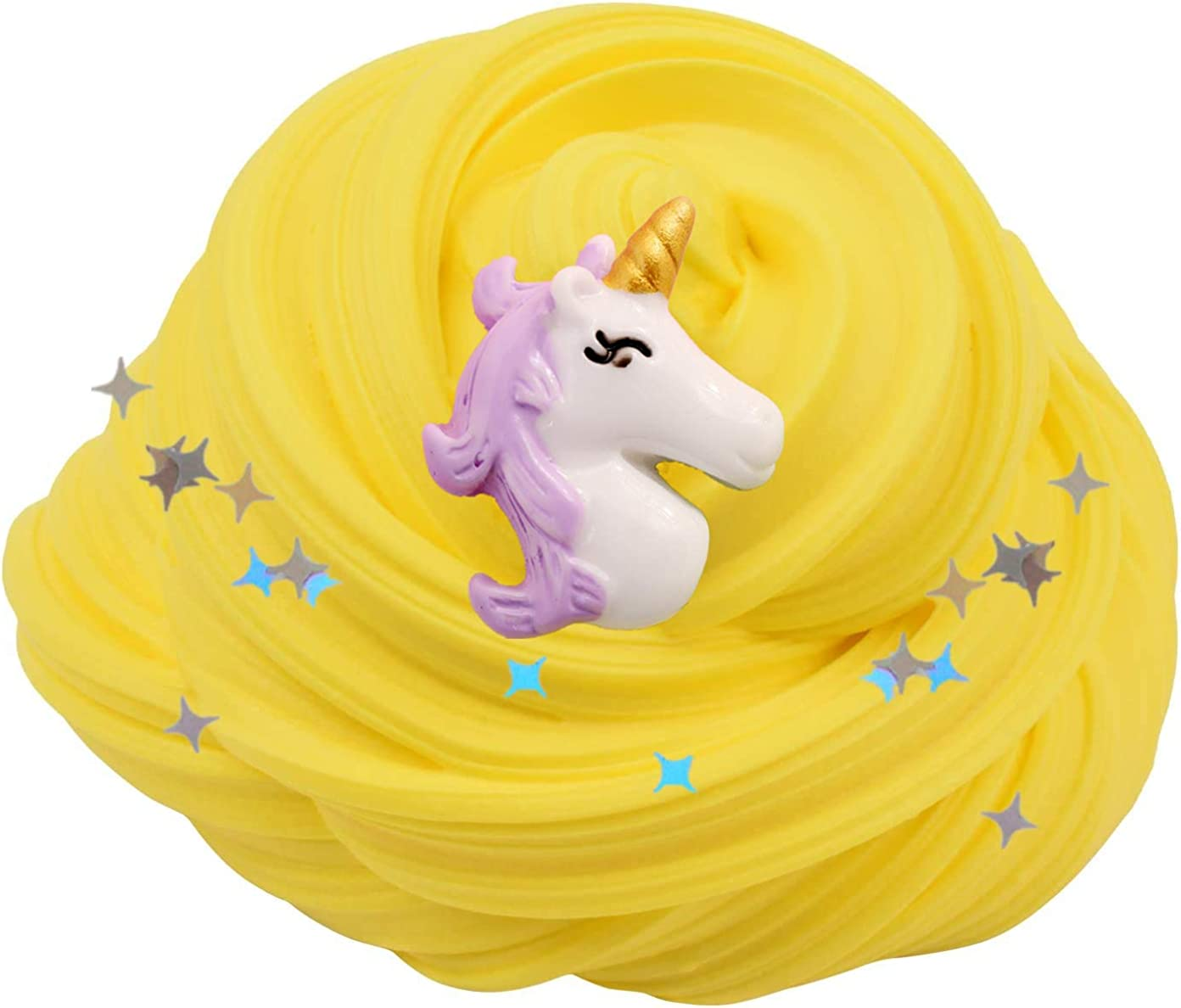 Super Soft and Non-Sticky Fluffy Slime Gift for Boys and Girls 200ML Scented Butter Slime with Unicorn Charms