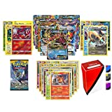 Pokemon Mega EX Guaranteed with Booster Pack, 5 Rare Cards, 5 Holo/Reverse Holo Cards, 20 Regular Pokemon Cards and TopDeck Deck Box