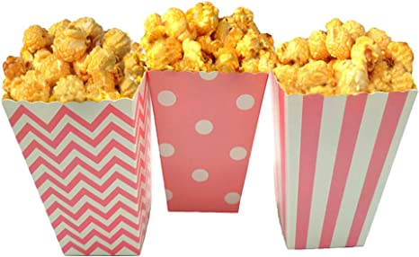 Amazon Com Jcx Paper Popcorn Bags Mini Movie Theater Party Paper Bags 36 Pieces Pink Health Personal Care