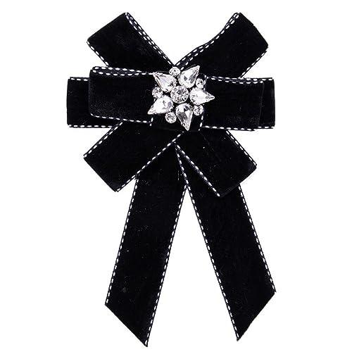 522f7beea5fc1 Amazon.com: Crystal Bow Brooches For Women Shirt Dress Collar ...