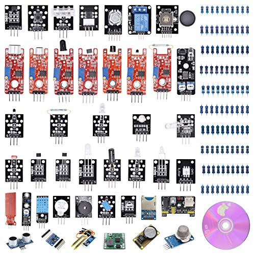 VKmaker T30 45-in-1 Sensors Modules Starter Kit for Arduino ()