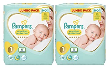 Pampers Nouveau Né Couches Taille 1 Premium Protection Giant Value