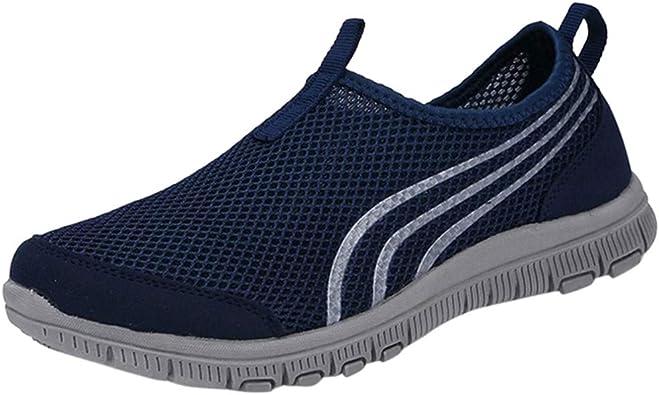 QinMM Zapatillas de Deporte Ligeras cómodas y Transpirables para ...
