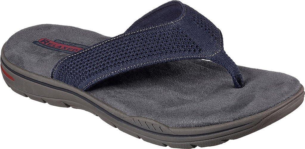 skechers relaxed fit memory foam mens sandals
