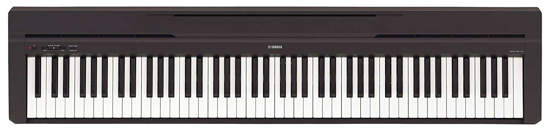 Yamaha P-45B - Piano digital / Set de piano de escenarios con soporte para teclado y auriculares (88 teclas, 64 voces, 10 voces preestablecidas, ...