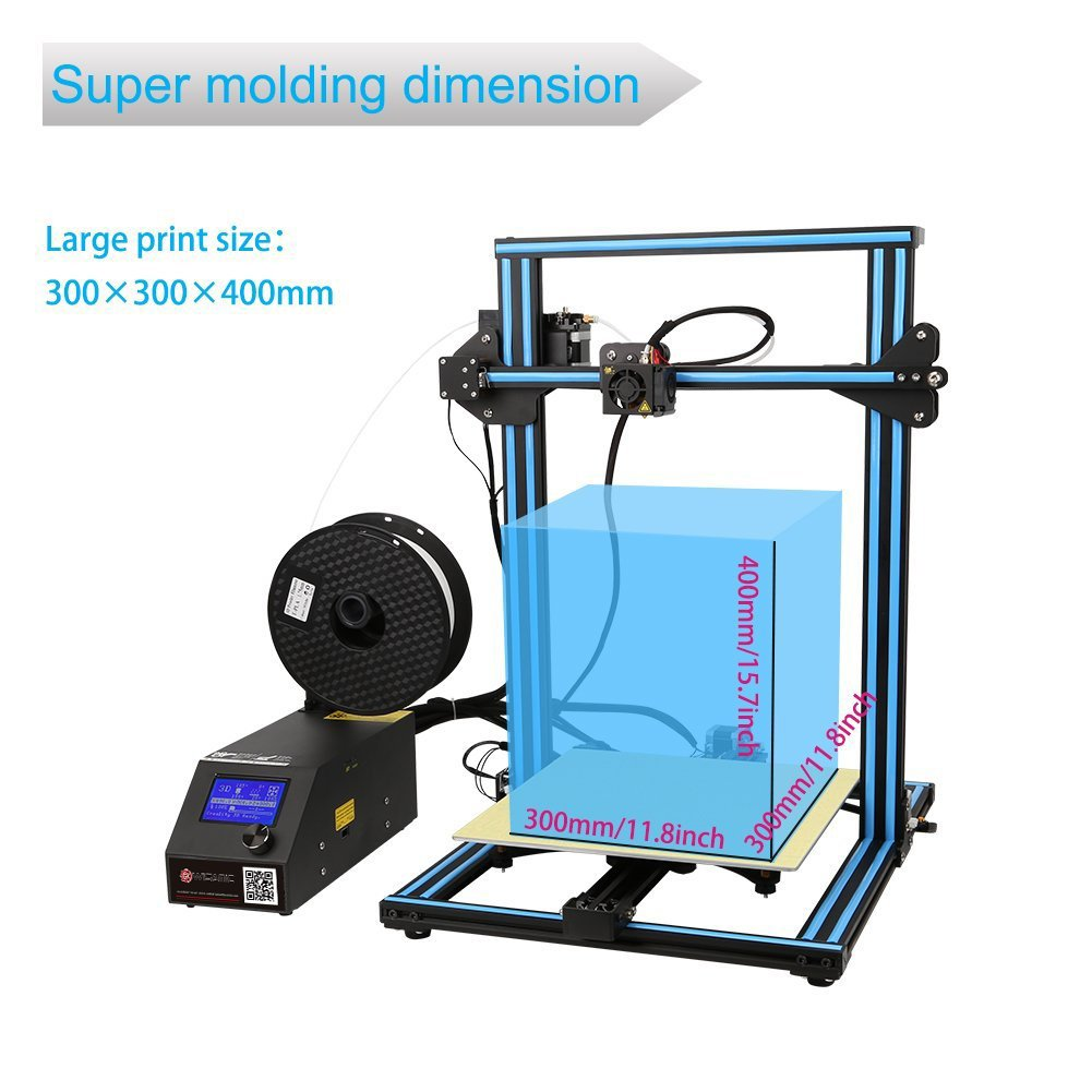 Wisamic Creality CR-10S 3D Printer Prusa I3 with 1m Extension Cable ...