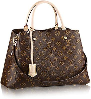 Louis Vuitton Montaigne MM Monogram Handbag Article: M41056 Made in France:  Handbags: Amazon.com