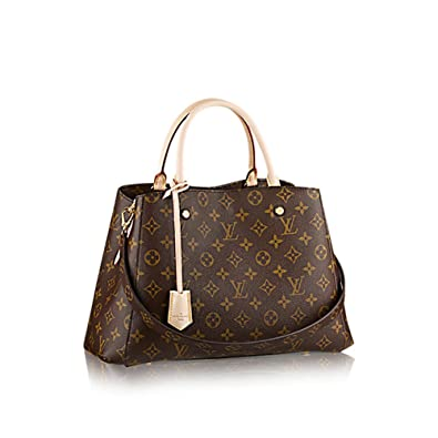 516c1a1d082e Louis Vuitton Montaigne MM Monogram Handbag Article  M41056 Made in France   Handbags  Amazon.com
