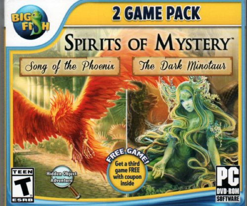 SPIRITS OF MYSTERY Hidden Object 2 GAME PACK: Song of the Phoenix + The Dark Minotaur (Hidden Objects Computer Games)