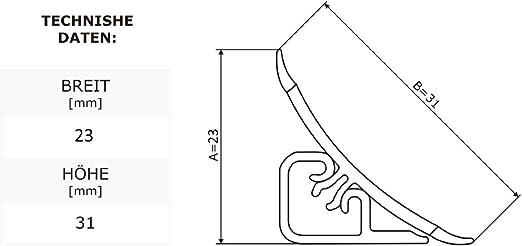 23mm Lien pour joint de plan de travail Couleur: noir PVC