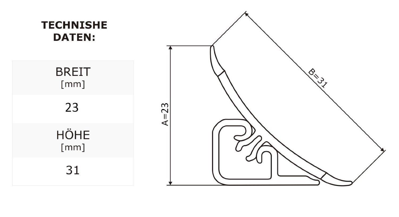 DQ-PP Verbinder f/ür Winkelleisten Granit hell f/ür K/üchen 23mm x 23mm Arbeitsplatten Grundprofil Abschlussleiste K/üchenabschlussleiste Tischplattenleisten