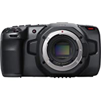 Blackmagic Design Pocket Cinema Camera 6K (Canon EF) Super 35-Sized HDR, Record 6K 6144 x 3456 up to 50 fps, Dual Native 400 & 3200 ISO to 25,600