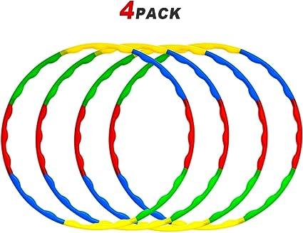 Amazon.com: Paquete de hula de juguete, aros de plástico ...