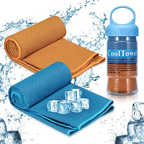 iTrunk Koeldoek, super absorberende zweetdoek voor onmiddellijke koeling, ijskoude sporthanddoek voor yoga, reizen…