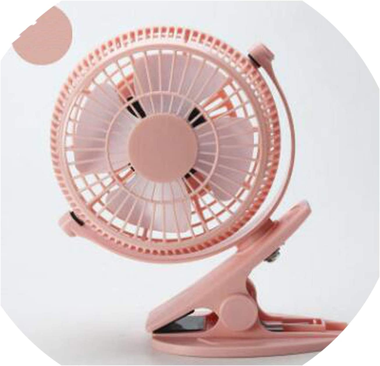 Portable Mini USB Fan Desk ABS Electric Desktop Computer Table Fan Home Office Electric Fans Mini Ventilator for Office,Pink
