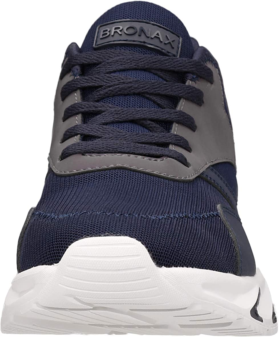 BRONAX Mens Lightweight Tennis Running Sneakers