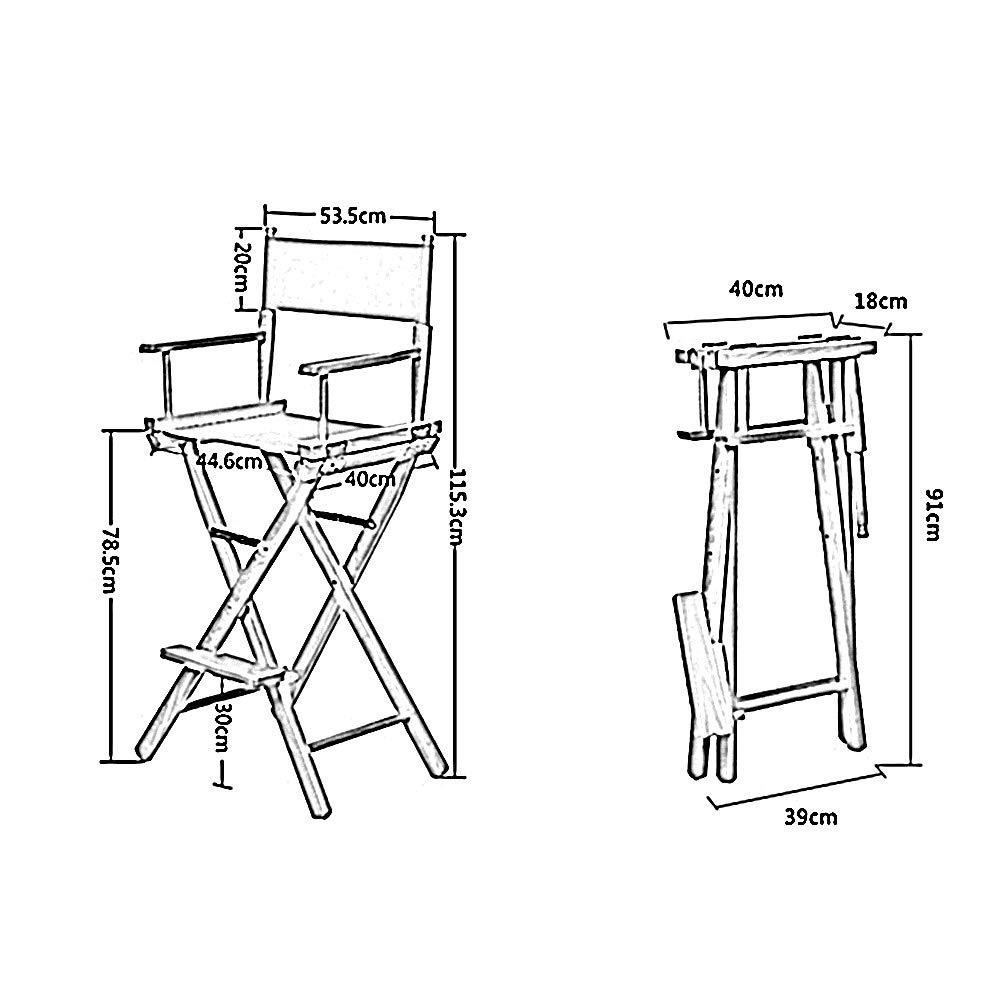HAIZHEN – hopfällbar stol i trä inomhus utomhusstol för smink trädgård kontor med ryggstöd och fotstöd (färg: Gul) BEIgE