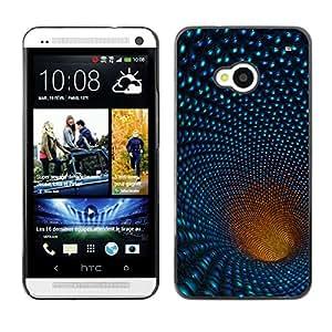 Desplazamiento abajo el agujero Shone - Metal de aluminio y de plástico duro Caja del teléfono - Negro - HTC One M7