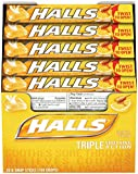 HALLS Cough Drops, (Honey-Lemon, 9 Drops, 20-Pack)