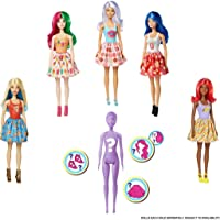 Barbie Color Reveal Doll with 7 Surprises: Water Reveals Doll's Look & Creates Color Change on Face & Sculpted Hair; 4…