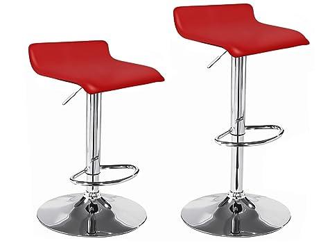 La sedia spagnola pack di sgabelli con base in cromo e seduta