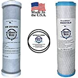 GE FXSVC Compatible Filters, Two Replacement Carbon Filter Cartridges, For GE Model GXSV10C, GXSL03C and GNSL05CBL SmartWater Dual Stage Water Filtration Systems, Two O-rings