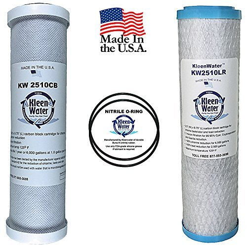 GE FXSVC Compatible Filters, Two Replacement Carbon Filter Cartridges, For GE Model GXSV10C SmartWater Dual Stage Water Filtration Systems, Two O-rings - Dual Stage Drinking Water Filter