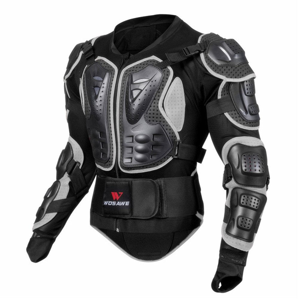 Oshide Motorradjacke hochwertig Motorrad Schutz Protektoren Schutzjacke Hemd Brustschutz Fallschutz Rot