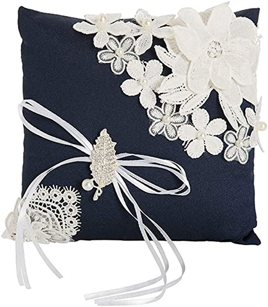 LOVELY WEDDING RING PILLOW//RING BEARER//WHITE//IVORY//PICK YOUR DESIGN//19cmx19cm