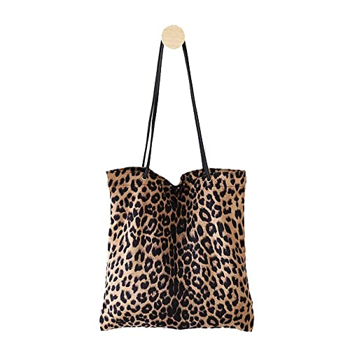 6377ae7f2 Women's Leopard Tote Casual Travel Shopping Shoulder Bag Handbag College  pack for Lady Girls