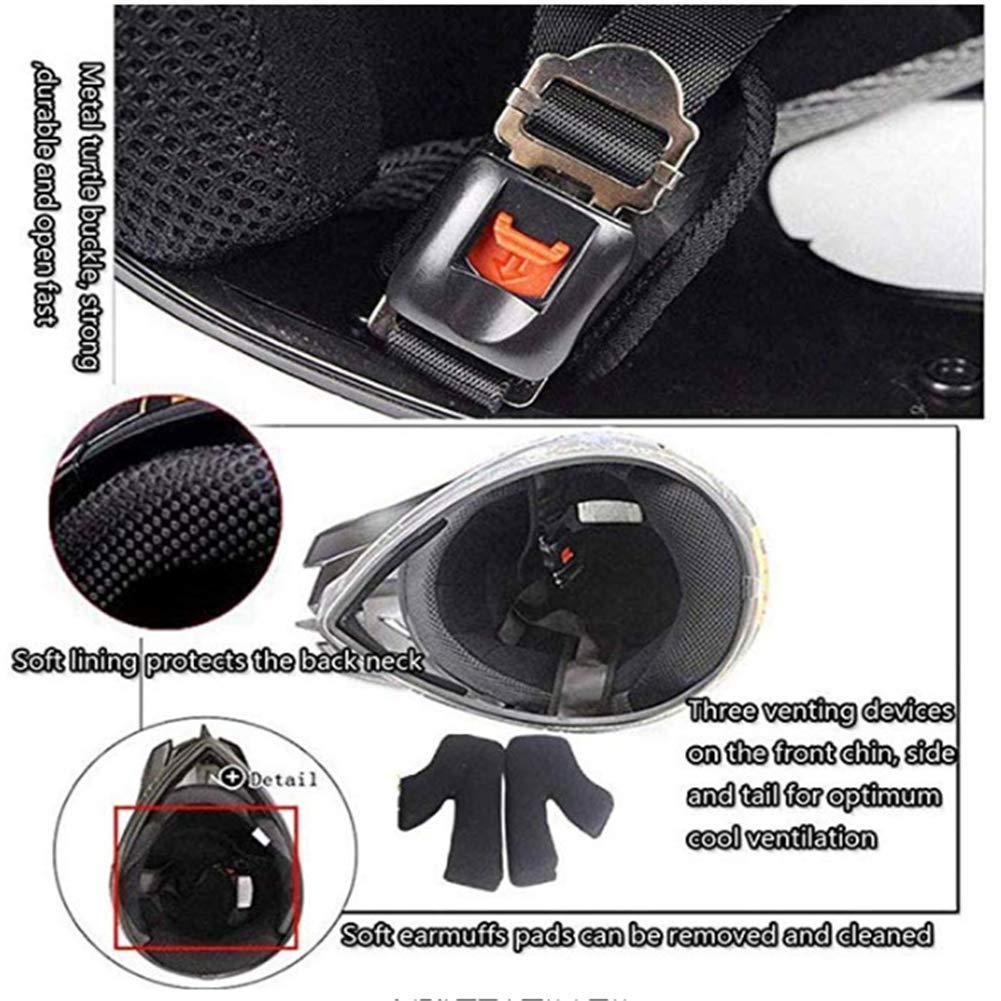 deporte m/áscara de tormenta y gafas con guantes negro y rojo 4 unidades para moto off casco de protecci/ón para motocross JWL Casco de moto enduro crossbike