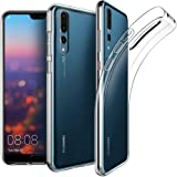 EasyAcc Coque Huawei P20 Pro, Etui Transparent Antidérapant pour Huawei P20 Pro Protection Dorsale Étui Slim Invisible Housse Cover Case en TPU Gel avec Absorption de Chocs 6.1''